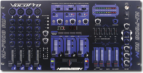 VocoPro - Pro 7-Channel KJ/DJ/VJ Mixer - Black