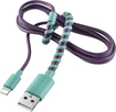 Modal - 4' Twist Lightning Charge-and-Sync Cable - Purple/Mint