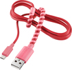 Modal - 4' Twist Micro USB Charge-and-Sync Cable - Pink