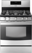 "Samsung - 30"" Self-Cleaning Freestanding Gas Range - Stainless-Steel"