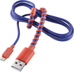 Modal - 4' Twist Micro USB Charge-and-Sync Cable - Aurora Red/Royal Blue