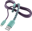 Modal - 4' Twist Micro USB Charge-and-Sync Cable - Purple/Mint