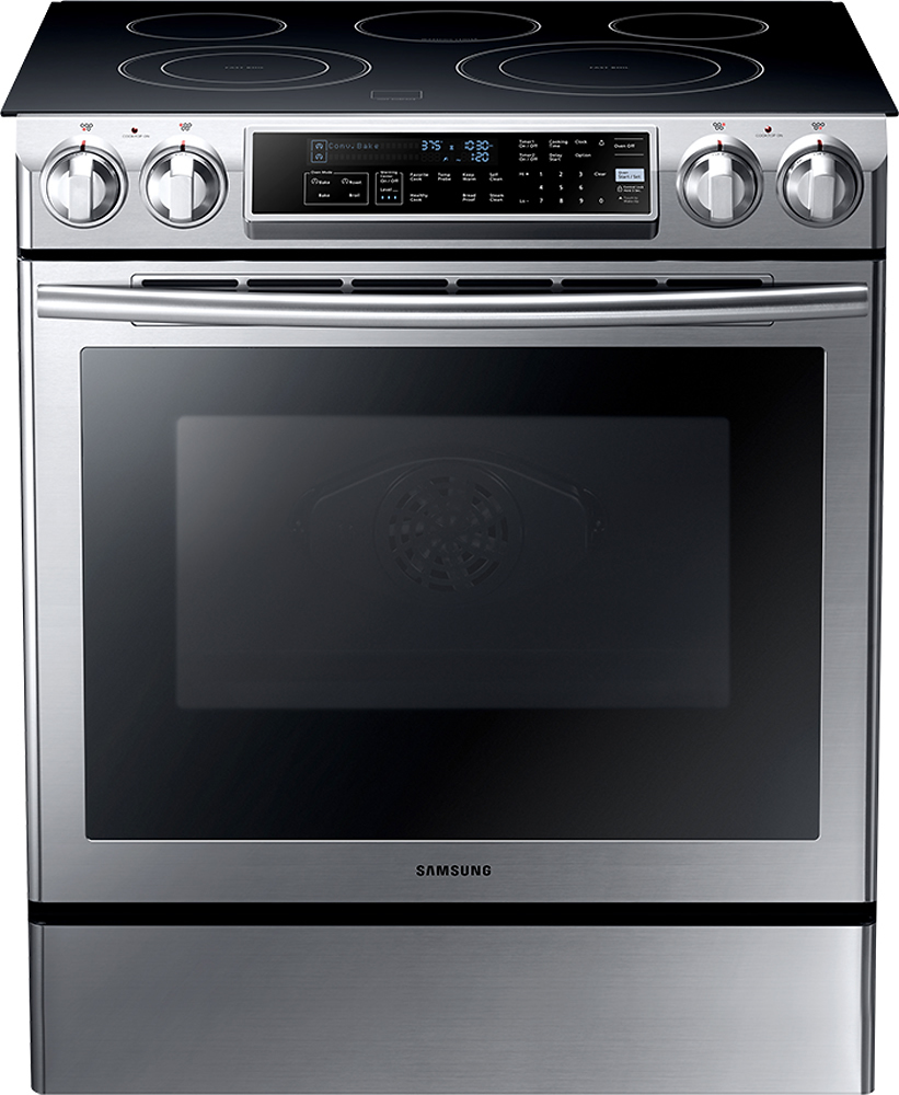 samsung 5 8 cu ft self cleaning slide in electric convection rh pacificsales com samsung electric range manual samsung electric stove specs