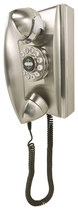 Crosley - CR55-BC Corded 302 Wall Phone - Silver