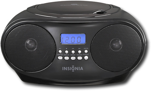 Insignia™ - CD Boombox with AM/FM Tuner - Black
