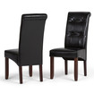 Simpli Home - Cosmopolitan Parson Chairs  - Midnight Black