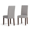 Simpli Home - Acadian Parson Dining Chairs  - Dove Gray