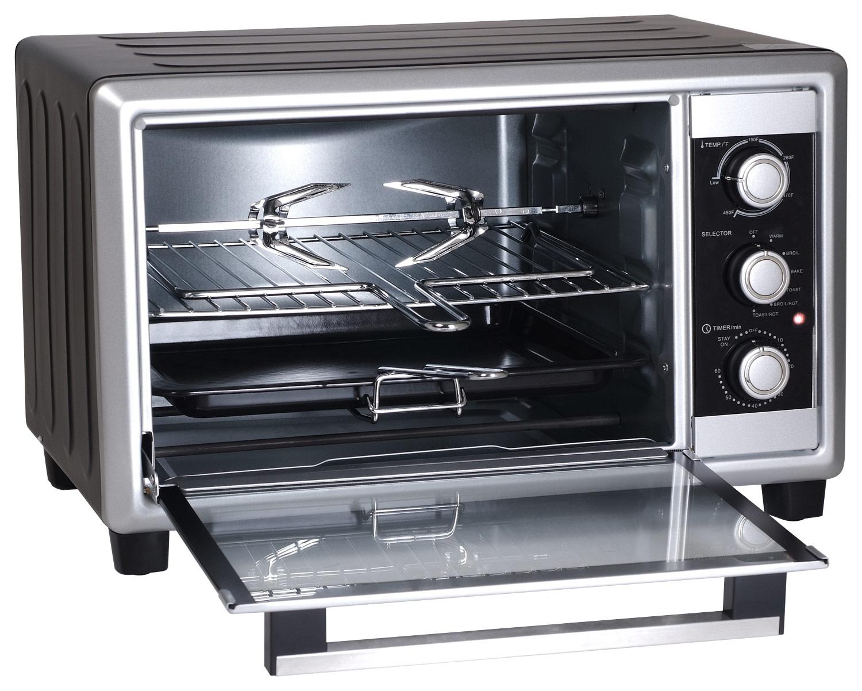 Elite Cuisine - 6-Slice Toaster Oven - Black