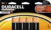 Duracell - 9V Alkaline Batteries (4-Pack) - Black