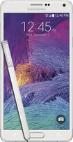 Samsung - Galaxy Note 4 4G LTE Cell Phone - Frost White (Verizon Wireless)