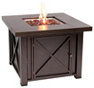 Fire Sense - X Design LPG Fire Pit - Hammered Bronze
