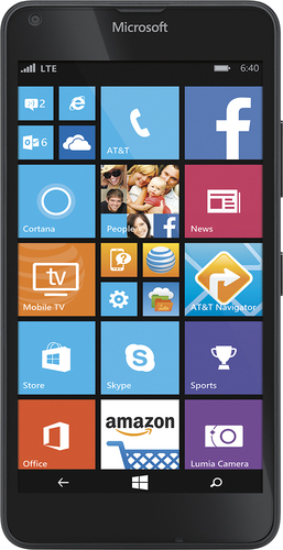 At&t GoPhone - Microsoft Lumia 640 4G LTE with 8GB Memory No-Contract Cell Phone - Black