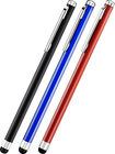 Insignia™ - Styluses (3-Count) - Black/Red/Blue