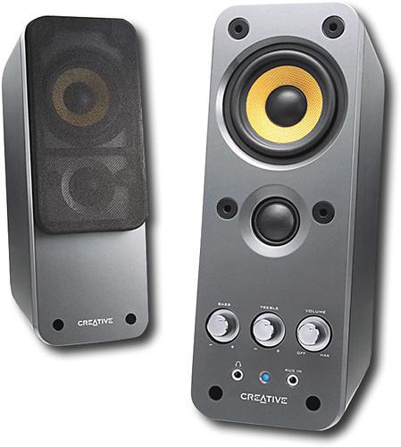 Creative - GigaWorks 14 W Speaker System - Glossy Black