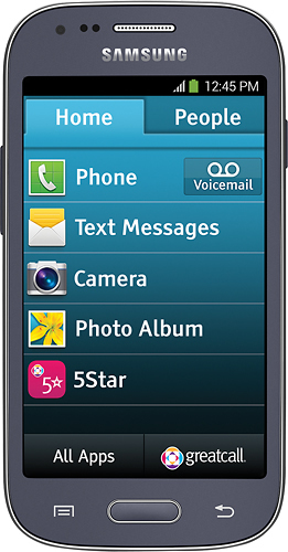 Jitterbug - Samsung Touch3 4G No-Contract Cell Phone - Gray