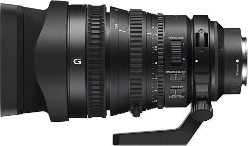 Sony - FE PZ 28-135mm f/4 G OSS Power Zoom Lens for Full-Frame, APS-C and Super 35 E-Mount Cameras - Black