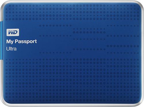 WD - My Passport Ultra 1TB External USB 3.0 Hard Drive - Blue