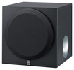 "Yamaha - 8"" 100-Watt Powered Subwoofer - Silver"