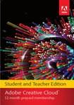 Adobe Creative Cloud Student and Teacher Edition (1-Year Prepaid Subscription Card) - Mac/Windows