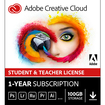 Adobe Creative Cloud Student and Teacher Edition (1-Year Prepaid Subscription Card) - Mac|Windows