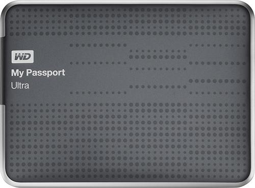 WD - My Passport Ultra 500GB External USB 3.0 Hard Drive - Titanium