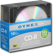 Dynex™ - 10-Pack 52x CD-R Discs with Jewel Cases - Silver