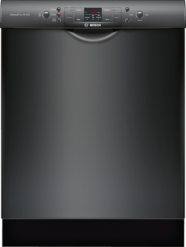 Bosch - 300 Series 24 Tall Tub Built-In Dishwasher with Stainless Steel Tub - Black