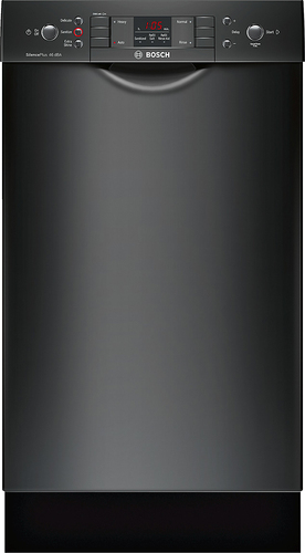 Bosch - 300 Series 18 Front Control Tall Tub Built-In Dishwasher with Stainless-Steel Tub - Black