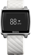 Basis - Peak Fitness and Sleep Tracker - Brushed Metal/White