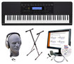 Casio - Portable Keyboard with 76 Piano-Style Touch-Sensitive Keys - Black