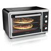 Hamilton Beach - Countertop Convection Oven - Black/Brushed Stainless Steel
