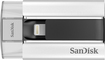 SanDisk - iXpand 16GB USB 2.0/Lightning Flash Drive - Silver/Black