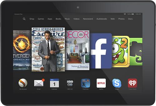 "Amazon - Fire HDX - 8.9"" - 32GB - Wi-Fi + 4G LTE Verizon - Black"