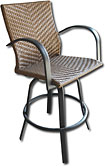 Outdoor GreatRoom Company - Naples Swivel Barstool (Pair) - Brown