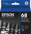 Epson - 68 XL 2-Pack High-Yield Ink Cartridges - Black