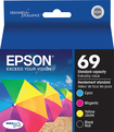 Epson - 69 4-Pack Ink Cartridges - Black/Yellow/Magenta/Cyan