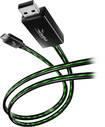 Rocketfish™ Mobile - 3' Lighted Micro USB Cable
