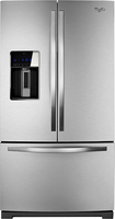 Whirlpool - 26.8 Cu. Ft. French Door Refrigerator with Thru-the-Door Ice and Water - Monochromatic Stainless-Steel