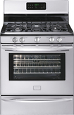 "Frigidaire - Gallery 30"" Self-Cleaning Freestanding Gas Convection Range - Silver/Black"