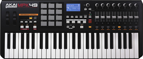 Akai - Performance Controller with Keyboard and Drum Pads - Black