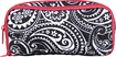 Studio C - Fresh As A Paisley Wire-Management Clutch - Black/White/Hot Pink