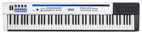 Casio - Privia PRO Portable Keyboard with 88 Touch-Sensitive Keys - Black/White