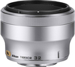 Nikon - 1 NIKKOR 32mm f/1.2 Medium Telephoto Lens - Silver