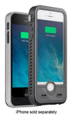 iBattz - Aqua S External Battery Case for Apple® iPhone® 5 and 5s - Black