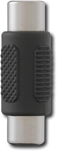 Dynex™ - RCA Plug Coupler - Silver/Black