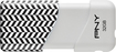 PNY - Compact Attaché 32GB USB 2.0 Flash Drive - Black/White