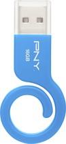 PNY - Monkey Tail 16GB USB 2.0 Flash Drive - Blue