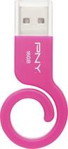 PNY - Monkey Tail 16GB USB 2.0 Flash Drive - Pink