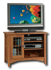 """Sauder - Rose Valley TV Stand for Flat-Panel or Tube TVs Up to 35"""" - Abbey Oak"""