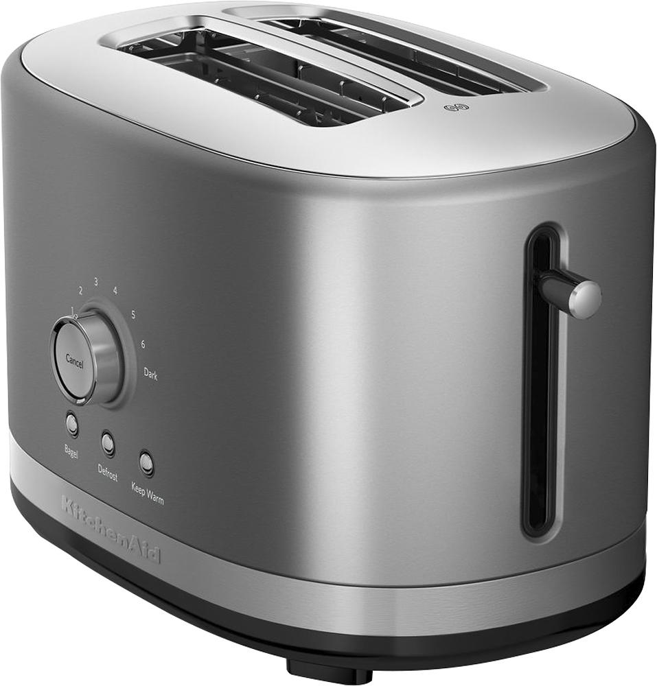 KitchenAid - 2-Slice Extra-Wide-Slot Toaster - Contour Silver